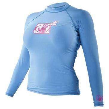 BODY GLOVE Blue Fitted Rashguard Womens Long Sleeve Shirt Small - UV  Protection ecfdb523c