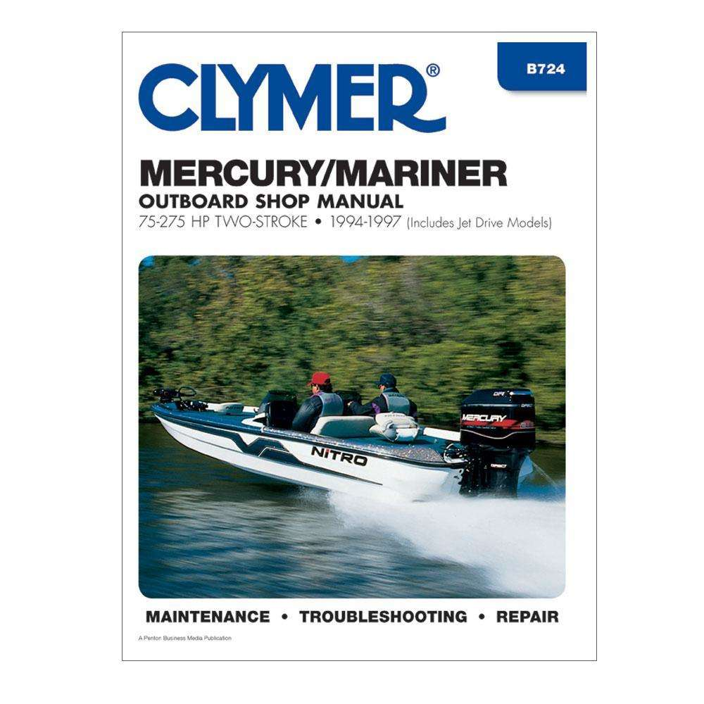 Clymer Mercury/Mariner 75-275 HP Two-Stroke Outboards (Includes Jet Drive  Models | OutdoorShopping.com at OutdoorShopping