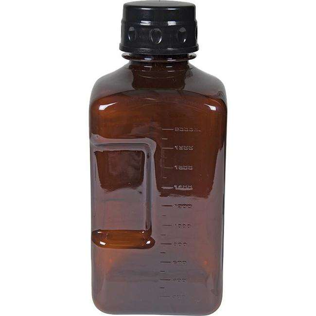 Fifty Fifty River Growler 64 Ounce Amber Square Bottle