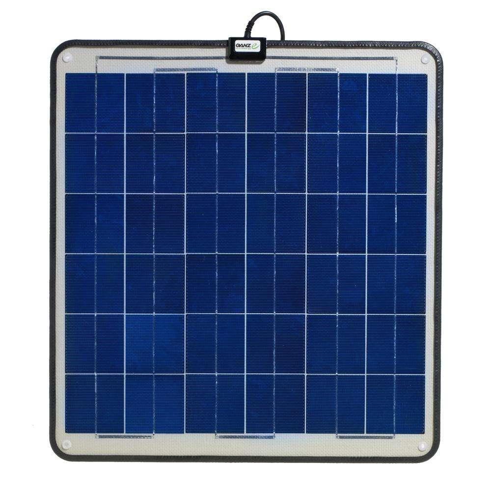 Ganz eco energy 30w semi flexible solar panel for Solar panel blueprint