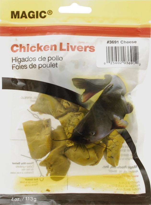 Magic cheese preserved chicken liver bait great for for Fishing with chicken liver