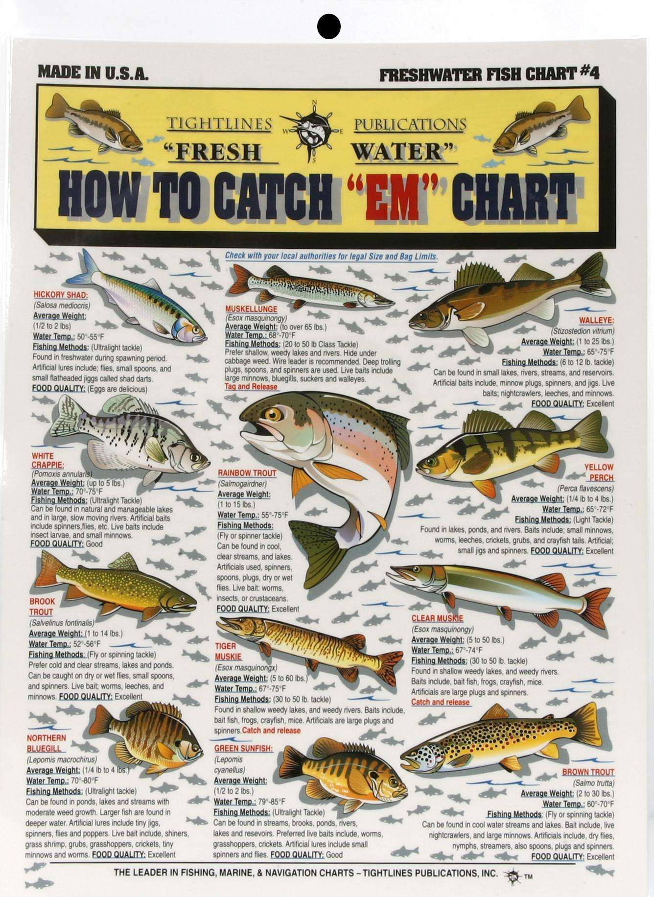 Tightline publications how to catchem freshwater chart 4 tightline publications how to catchem freshwater chart 4 detailed info outdoorshopping at outdoorshopping geenschuldenfo Image collections