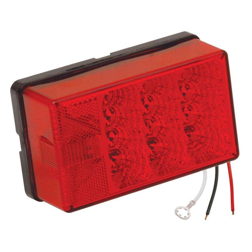 Wesbar Waterproof LED 4'' x 6'' Low Profile Tail Lights ...