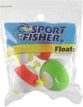 1000 West Inc. 1000 Sport Inc Sport Fisher Push Button Floats Assorted Colors - High Quality