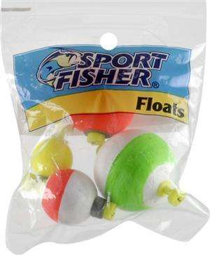 1000 West Inc. 1000 Sport Inc Sport Fisher Push Button Weighted Floats Assorted Colors