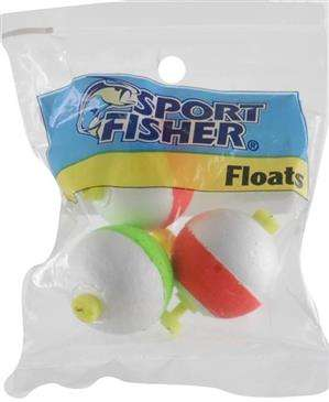 generic 1000 West Inc Sport Fisher Push Button Snap On Round Float 3 Pack 1.25''