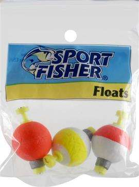 1000 West Inc. 1000 West Inc Sports Fisher Push Button Snap On Round Float 1'' - High Quality