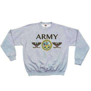 Fox Outdoor 2X Large Grey Army Seal Crewneck Sweatshirt Large - Made Of Polyester/Cotton