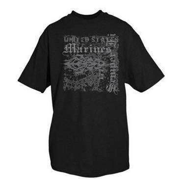 Fox Outdoor 3X Large Black United States Marines One Sided Imprinted T-Shirt Black Large - Cotton