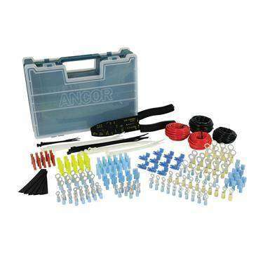 Ancor 225 Piece Electrical Repair Kit w/Strip & Crimp Tool - Opens Both Sides