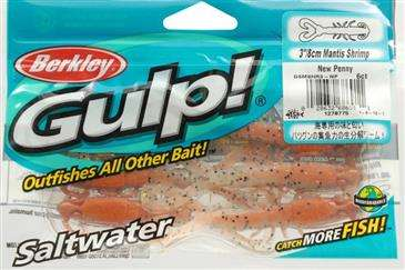 "3/"" 8CM Mantis Shrimp Saltwater Lures New Penny 6 Pack Brand New!!! Berkley Gulp"