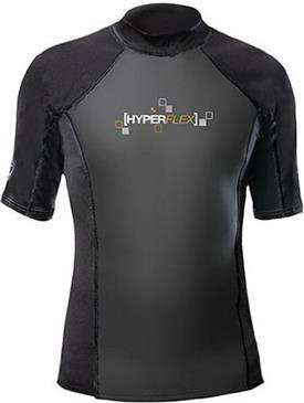 generic Black Hyperflex Core Warmer Shirt Large - Beach, Surfing, Water Sports, Unisex