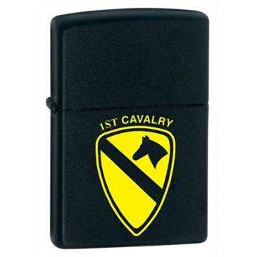 Generic Black Matte 1st Cavalry Zippo Lighter - USA Made/Windproof/Refillable/Gift