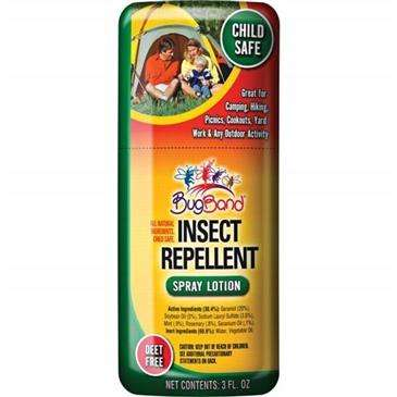 Bugband Insect Repellent Spray 3 Ounce - Deet Free/Child Safe/Pleasant Scent
