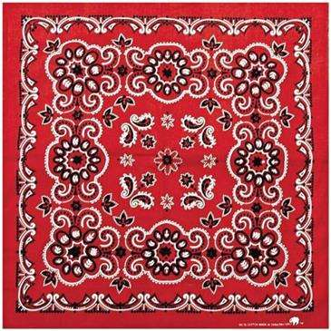 Carolina Manuf Red Texas Paisley Bandana - 27   x 27   ab18ec25389