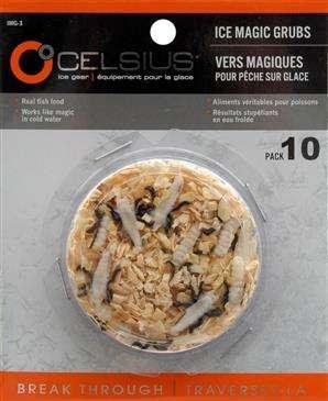 Celsius Natural Ice Magic Grubs 10 Pack - 83% Real Fish Food Body/Life Like