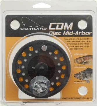 Generic Cortland Line CDM Pre-Spooled Fly Reel - Cast Aluminum w/Matte Black Finish