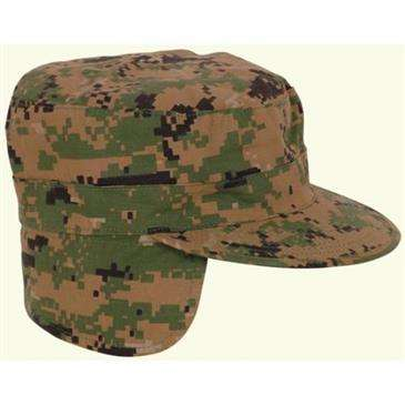 Generic Digital Woodland Camouflage Combat BDU Fatigue Patrol Earflaps Cap  Tactical Army Military Ball Hat 77bd193b82a