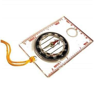 Ultimate Survival Egear Basic Map Compass - Liquid-Filled Compass Keeps North Arrow Steady