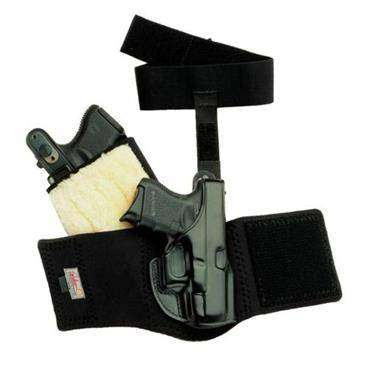 Black Right Hand Ankle Glove (Ankle Holster), Charter Arms - Bulldog  44  (2 5 Barrel)