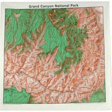 Topographic Map Grand Canyon.Grand Canyon National Park Topographic Map Bandana 100 Cotton 22