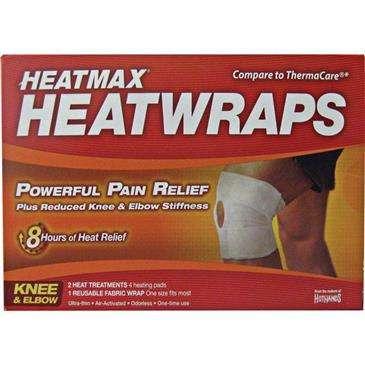 HOT HANDS Heatmax Knee/Elbow Wraps - Powerful Pain Relief, 2 Heat Treatments