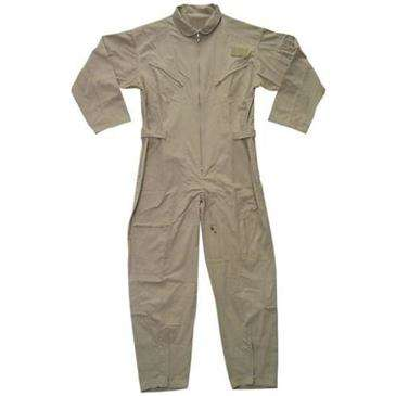 Generic Khaki Tan Sand USAF AIR FORCE ZIPPERED FLIGHTSUIT - Velcro Adjustable Waist