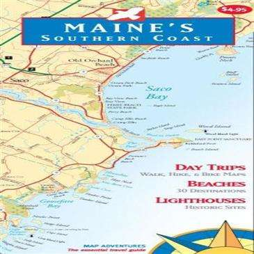Map Adventures Maine Southern Coast | OutdoorShopping.com at ... on