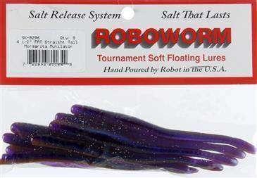 Roboworm Fat Straight Tail Worm Bait