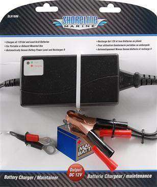 Generic Shoreline Marine Battery Charger & Maintainer - Portable Or Onboard Mounted Use