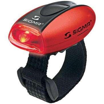 Sigma Micro II Metallic Red/R LED - Burn Time: 50 Hrs/Modes: Permanent & Flashin