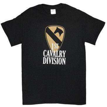 Fox Outdoor Black 1St Cavalry Division One Sided Imprinted T-Shirt