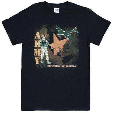 Fox Outdoor Black Army Defenders Of Freedom One Sided Imprinted T-Shirt