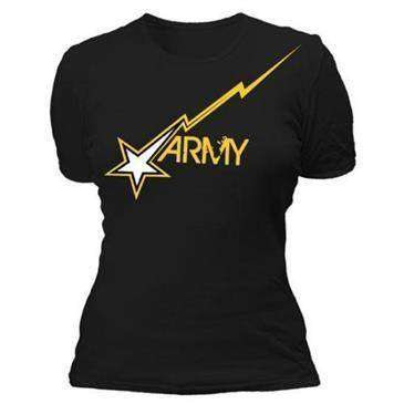 Fox Outdoor Baby Ribbed Black Army Star Women'S T-Shirt