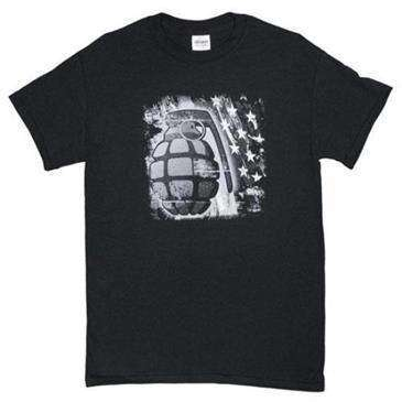 Fox Outdoor Black Grenade One Sided Imprinted Logo T-Shirt