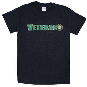 Fox Outdoor Black Veteran Us Army One Sided Imprinted T-Shirt