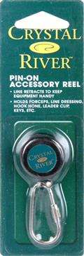 South Bend Crystal River Pin On Accessory Reel - Holds Forceps, Line Dressing, etc