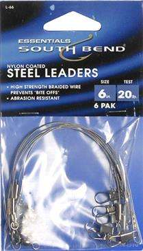 """South Bend 6"""" High Strength Braided Fishing Wire"""