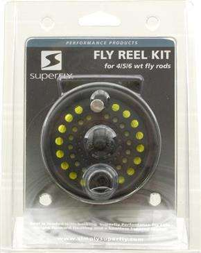 Superfly Fly Reel Kit 7/8/9 w/Line - For Right Or Left-Handed Retrieves