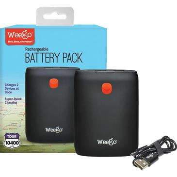 Weego Battery Pack Tour 10400 - Lightweight, Battery Backup Charges Smartphone