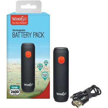 Weego Battery Pack Tour 2600 - Lightweight, Battery Backup Charges Smartphone