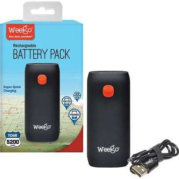 Weego Battery Pack Tour 5200 - Lightweight, Battery Backup Charges Smartphone