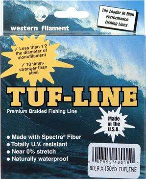 Tuf-Line  Eliminates Wind Knots/Tip Wraps 150 Yard Fishing Line