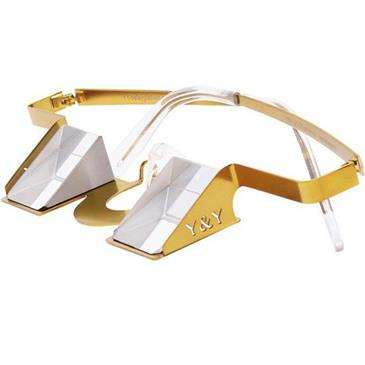 Y & Y Vertical Gold Y & Y - Colorful - Flexible Glasses Bows And Frame
