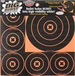 Birchwood Casey Birchwood Black/Orange Casey Big Burst Round Target 18 Pack 8'' - High Quality