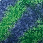 Carolina Manuf Blue/Green Tie Dye Head Standard Bandanna - USA Made, Motorcycle,Etc, 22 X 22''