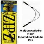 CABLZ Black Zipz 12'' - Allows You To Easily Adjust Your Cablz/Eyewear Retainer