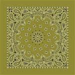 Carolina Manuf Bandana Paisley Olive Drab - Great Recreational Accessory