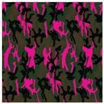 Carolina Manuf Camo Neon Pink Bandana - Made Of 100% All Natural Cotton