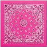 Carolina Manuf Neon Pink Paisley Bandana - Recreational Use/Scarf